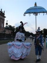 Künstler am Schloss Neues Palais Besucherbetreuung Sans souci nachts Park Sanssouci XV Potsdamer Schloessernacht Potsdam