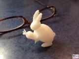 3D Druck Hase mit Moehre FreeSculpt Drucker