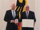 Alexander Gerst Weltraumalex Astronaut, BPr F W Steinmeier Verleihung Verdienstorden Bundesrepublik Deutschland Schloss Bellevue Berlin 2019 Hauptstadt Berichterstattung TrendJam