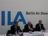 Alexander Reinhardt, Ralf Fuecks, Tom Enders Airbus Pressekonferenz Berlin Air Show ILA Berlin BER Schoenefeld International Aerospace Exhibition