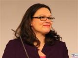 Andrea Nahles Google Impact Challenge Deutschland Cafe Moskau Karl Marx Allee Berlin Arbeits- und Sozialministerin