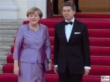 Angela Merkel Bundeskanzlerin Promi Joachim Sauer Schloss Bellevue Berlin Queen in Berlin