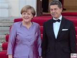 Angela Merkel Bundeskanzlerin Promi Joachim Sauer Schloss Bellevue Berlin Queen in Berlin 2015