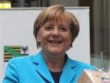 Angela Merkel Gesicht face Lachen BundesKanzlerin Kultursommernacht Vertretung des Landes Sachsen Anhalt beim Bund Berlin