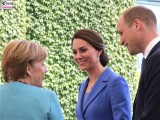Angela Merkel, Prinz William Duke of Cambridge, Catherine Duchess of Cambridge Empfang Kanzleramt Berlin Berichterstatter