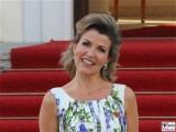 Ann-Sophie Mutter Gesicht Promi Queen Besuch Schloss Bellevue Staatsbankett Berlin