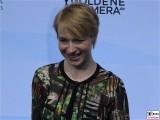 Anna Brueggemann Gesicht face Kopf Produzentenfest Produzentenallianz Regen Kongresshalle Hutschachtel WestBerlin Berichterstatter