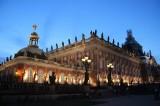 Auffahrt an Wohnung Friedrich des Grossen im Neuen Palais nachts aussen Park Sanssouci XV Potsdamer Schloessernacht Potsdam