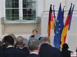 BK Angela Merkel Ansprache GartenSeite Schloss Meseberg Deutschland Empfang Diplomatisches Corps Gransee Berichterstattung