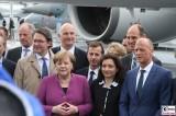 BK Angela Merkel, MP Dietmar Woidke Gesicht Eroeffnung ILA Luft und Raumfahrt Ausstellung Berlin Schoenefeld airport Berichterstattung