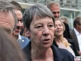 BM Barbara Hendricks Gesicht Promi Kopf Sommerfest Landesvertretung Nordrhein-Westfalen beim Bund Berlin Hiroshimastrasse Berichterstatter