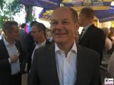 BM Olaf Scholz Gesicht face Promi SPD Brandenburger Sommerabend Potsdam Schiffbauergasse Berichterstattung