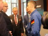 BM Peter Altmaier, Pr.BDI Dieter Kempf, Astronaut Matthias Maurer 1.Weltraumkongress BDI Berlin 2019 Hauptstadt Berichterstattung TrendJam