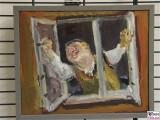 Bernhard Heisig Maler Gemaelde Der Fensteroeffner 1989 Oel auf Leinwand Leihgabe Potsdam Museum Sammlung Schreck Kunst
