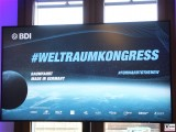 Bildwand Logo 1.Weltraumkongress BDI Berlin 2019 Hauptstadt Berichterstattung TrendJam
