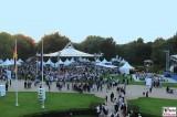 Blick vom Balkon Schloss Bellevue Buergerfest Schlosspark Berlin Bundespraesident Berichterstatter