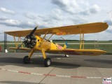 Boeing Stearman gelb N2S-3 D-EQXL Quax ILA Luft und Raumfahrt Ausstellung Berlin Schoenefeld airport Berichterstattung