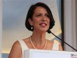 Botschafterin Christine Schraner Burgener Gesicht face Kopf Rede Eroeffnung Gotthard Basistunnel Schweizer Botschaft Berlin Soiree Suisse Gottardo
