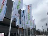 Botswana ITB Berlin City Cube Eingang Funkturm Fahnen Internationale Tourismusboerse Deutschlandhalle Berichterstatter