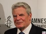 Bundespraesident Joachim Gauck Gesicht Face Kopf Amnesty Deutschland Verleihung Menschenrechtspreis Maxim Gorki Theater Berlin