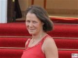 Christina Rau Gesicht Promi Queen Besuch Schloss Bellevue Staatsbankett Berlin