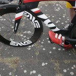 Detail Felge Schuh Fahrrad Ironman 70.3 Berlin Triathlon 2013 Tempelhof