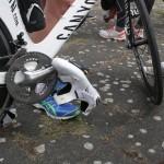 Detail Schuh Fahrrad Ironman 70.3 Berlin Triathlon 2013 Tempelhof