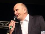 Dietmar Woidke Gesicht singt Promi Ministerpraesident SPD Sommer Jubilaeum Volkspark Buga Potsdam Fest Feier Partei