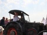 Dietmar Woidke steuert Trecker Beim Treffen Philadelphia Storkow Mark Brandenburg Sommer Oldtimer Traktoren