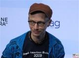 Dietrich Brueggemann Gesicht face Kopf Produzentenfest Produzentenallianz Regen Kongresshalle Hutschachtel WestBerlin Berichterstatter