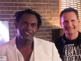Dr. Alban, Peter Illmann Gesicht face Promi PAN AM Lounge Formel Eins Set Drehort RTL Nitro Berlin Budapester Strasse Musik