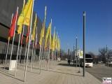 Eingang City Cube Fruit Logistica Messe Gelaende Berlin unter dem Funkturm Berichterstatter