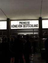 Eingang Premiere Koenig von Deutschland Berlin Kino International Karl Marx Allee