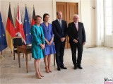Elke Büdenbender, Catherine, Prince William, Bundespräsident Steinmeier Empfang Schloss Bellevue Berlin Berichterstatter