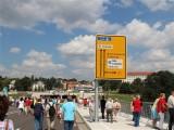 Eröffnung Waldschloesschenbrücke Dresden Blick in Richtung Tunnel