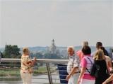 Eröffnung Waldschloesschenbrücke Dresden neuer Blick in Richtung Dresdner Altstadt Frauenkirche