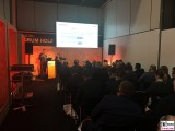 Fachvortrag Forum Holz bautec Messe Berlin Fachmesse Funkturm Bau Gebaeude Ausruestung Berichterstatter
