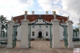 Fassade Tor Front Schloss Meseberg Deutschland Empfang Diplomatisches Corps Gransee Berichterstattung