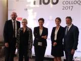 Fotowand Preisverleihung Gaeste Promi M100 Promi Saal Colloquium Medienkonferenz Sanssouci Orangerie Potsdam Berichterstatter