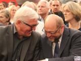 Frank-Walther Steinmeier, Martin Schulz Gesicht face Kopf Lachen Promi Programmkonferenz Europa SPD Berlin Gasometer Berichterstatter