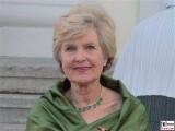 Friede Springer Gesicht Promi Queen Besuch Schloss Bellevue Staatsbankett Berlin