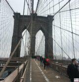 Fußgänger, Brooklyn Bridge, New York