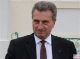 Günther Oettinger Gesicht face Kopf Promi EU-Kommissar für Digitale Wirtschaft Klausur Tagung Schloss Meseberg Gaestehaus Bundesregierung