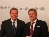 Gerhard Schroeder, Roland Tichy Ludwig-Ehrhard-Preis Wirtschaftspublizistik Deutsche Telekom Hauptstadtrepräsentanz Berlin Berichterstatter