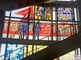 Glas Mosaik Bild Treppenhaus Trotz Alledem ESMT VBKI Sommerfest ehem Staatsrat Berlin Schlossplatz Berichterstattung TrendJam