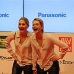 Goldene Bild der Frau Meise Zwillinge Berlin Axel Springer Haus 2013