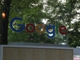 Google Schriftzug Stand NRW Landesvertretung Sommerfest Nordrhein-Westfalen beim Bund Berlin Hiroshimastrasse Berichterstatter