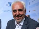 Hans-Rainer Schroeder Gesicht face Kopf Produzentenfest Produzentenallianz Regen Kongresshalle Hutschachtel WestBerlin Berichterstatter