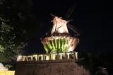 Historische Mühle am Schloss Sans souci nachts Park Sanssouci XV Potsdamer Schloessernacht Potsdam