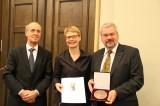 Jörg Haspel, Regula Lüscher, Wolfgang Colwin Ferdinand-von-Quast-Medaille 2013 Rotes Rathaus Berlin Mitte
